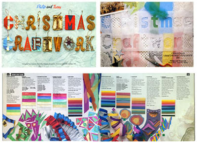 sample covers and pages for- Chistmas Craftwork Catalogues.