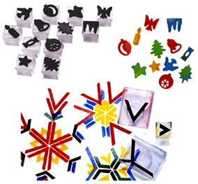 Christmas Flexipress stamps snowflake geometry stamps.